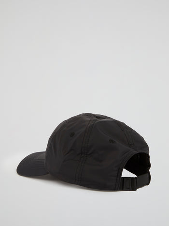 Black Appliquéd Logo Cap