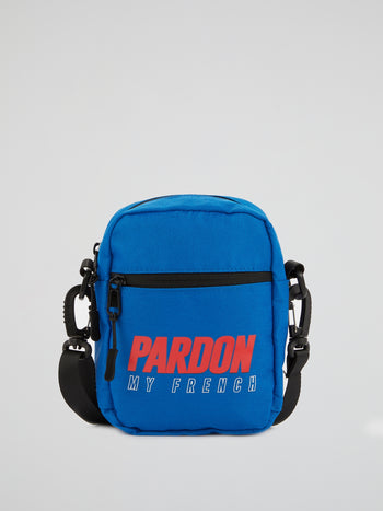 Blue Logo Sling Bag