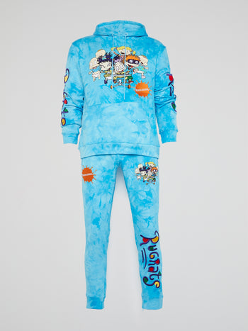 Rugrats Blue Tie Dye Sweatpants