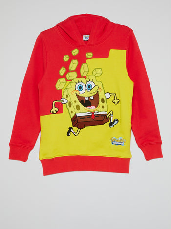 SpongeBob SquarePants Red Drawstring Hoodie (Kids)