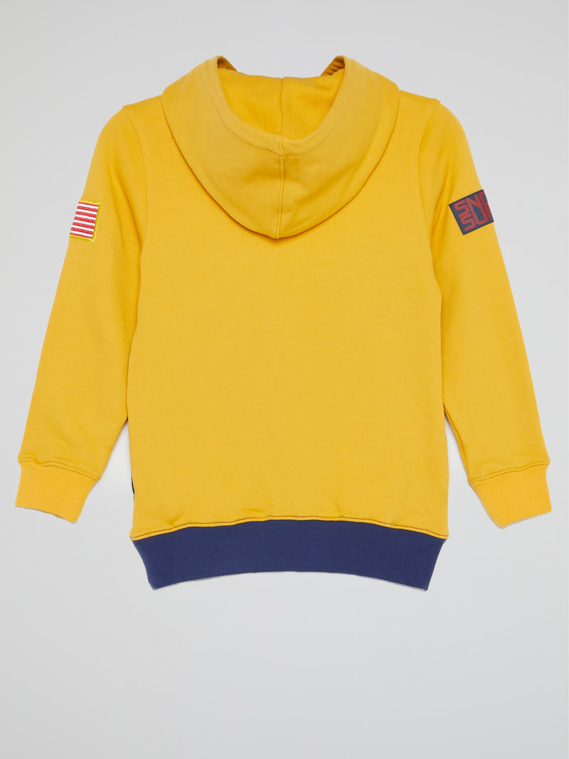 Patrick Star Yellow Panelled Hoodie (Kids)