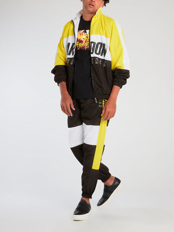 Colour Block Logo Print Track Jacket