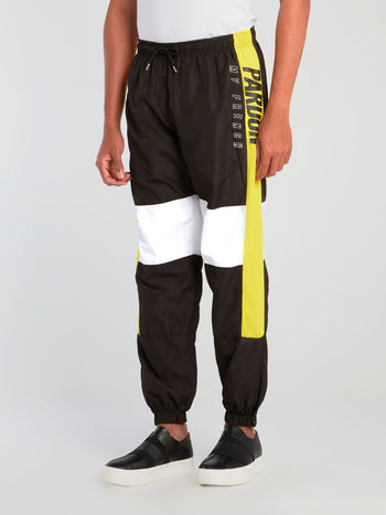Colour Block Cuffed Track Pants