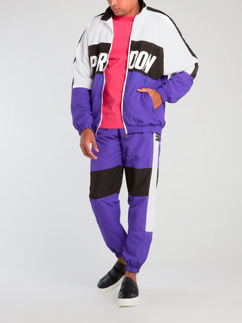 Colour Block Zip Up Track Jacket