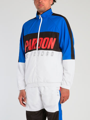 Colour Block High Neck Track Jacket