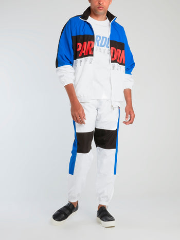 Colour Block Drawstring Track Pants