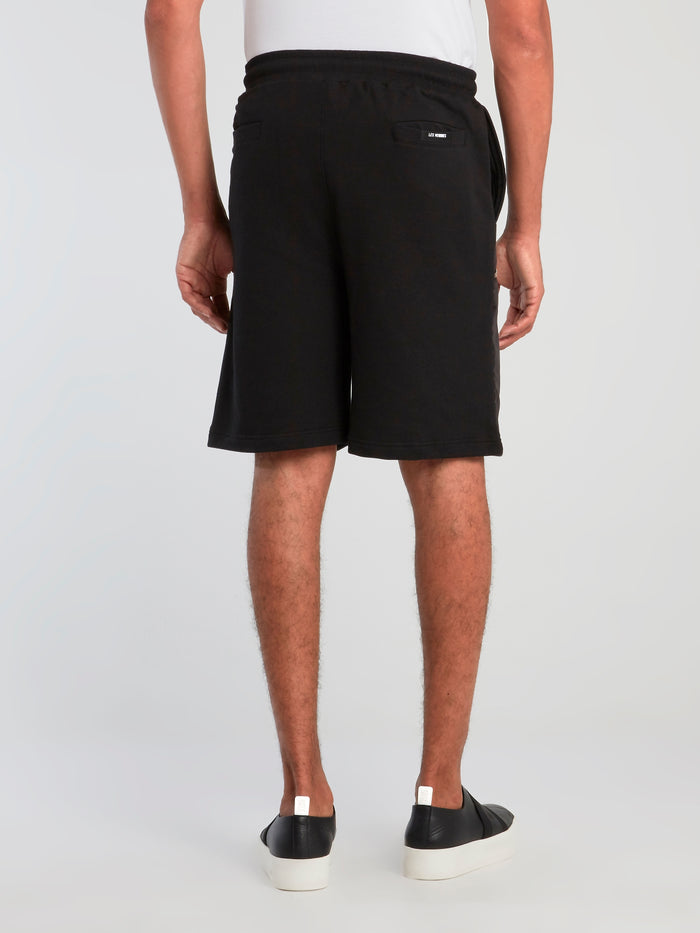 Black Zipper Pocket Core Shorts