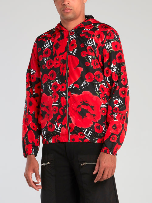All Over Poppies Hooded Jacket