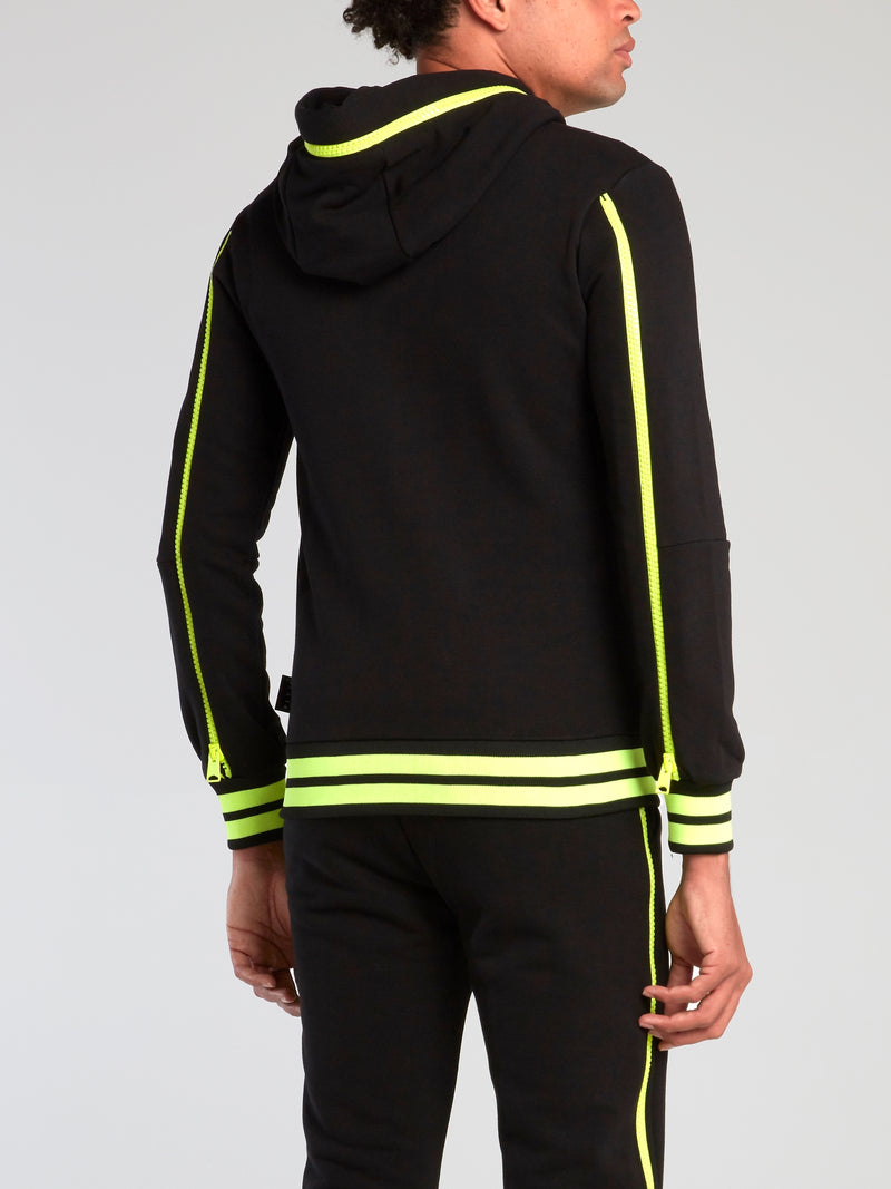 Neon Stripe Trim Sweatshirt