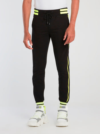 Neon Stripe Trim Sweatpants