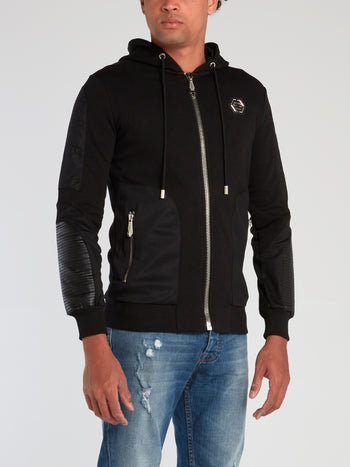 Black Strass Skull Jogging Jacket