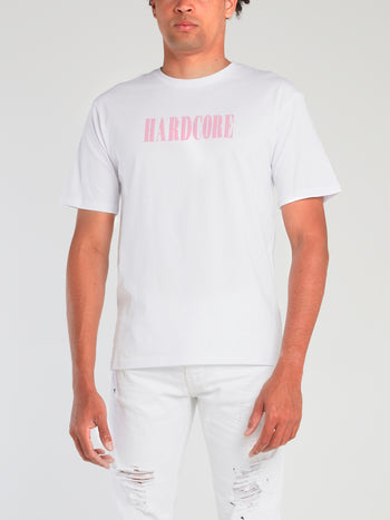 White Statement Cotton T-Shirt