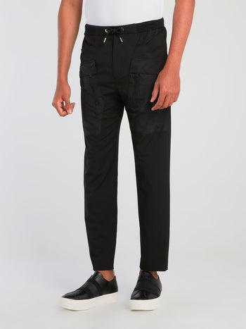 Black Front Pocket Detail Pants