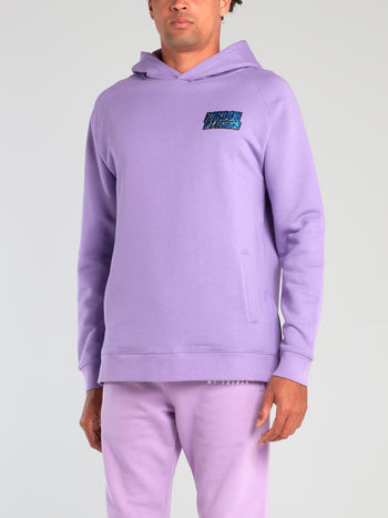 Purple Side Zip Logo Hoodie
