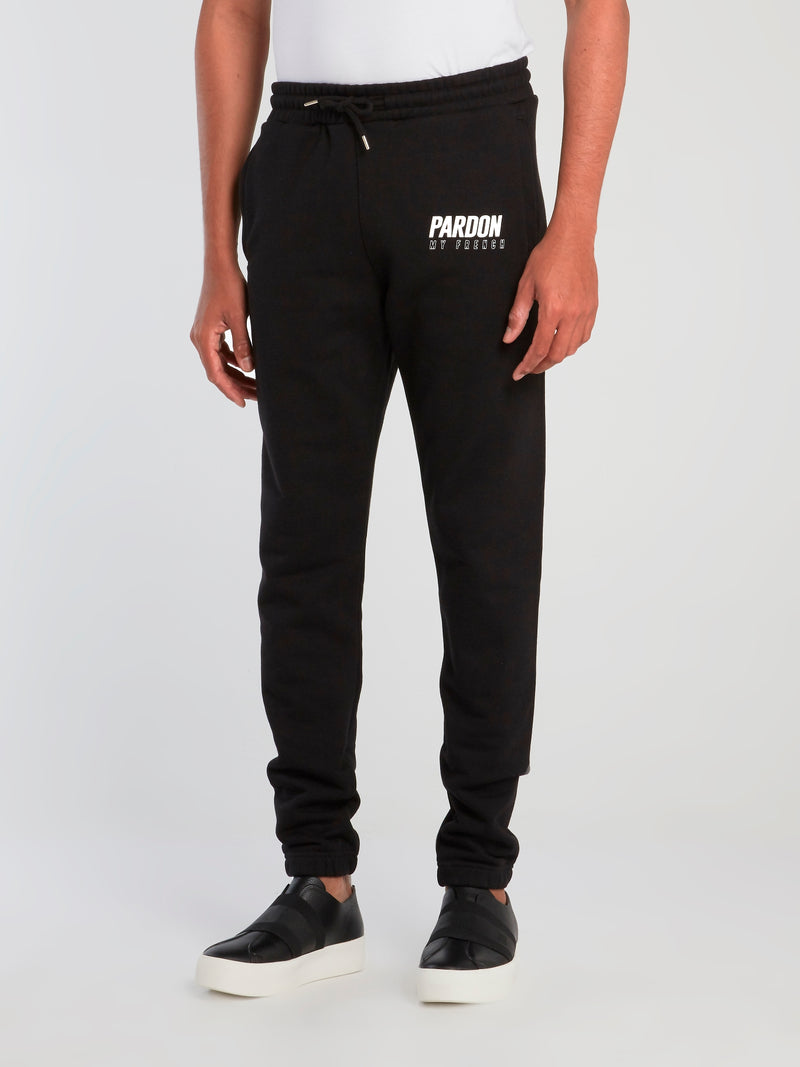 Black Logo Print Core Pants