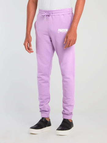 Purple Logo Print Core Pants