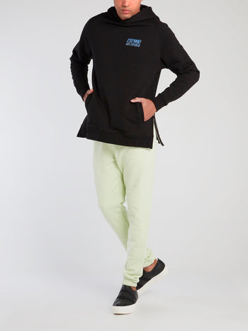Green Logo Print Core Pants