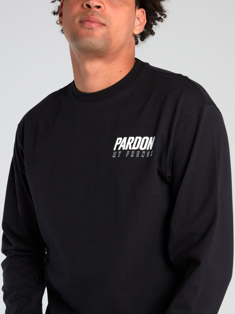 Black Logo Crewneck Sweatshirt