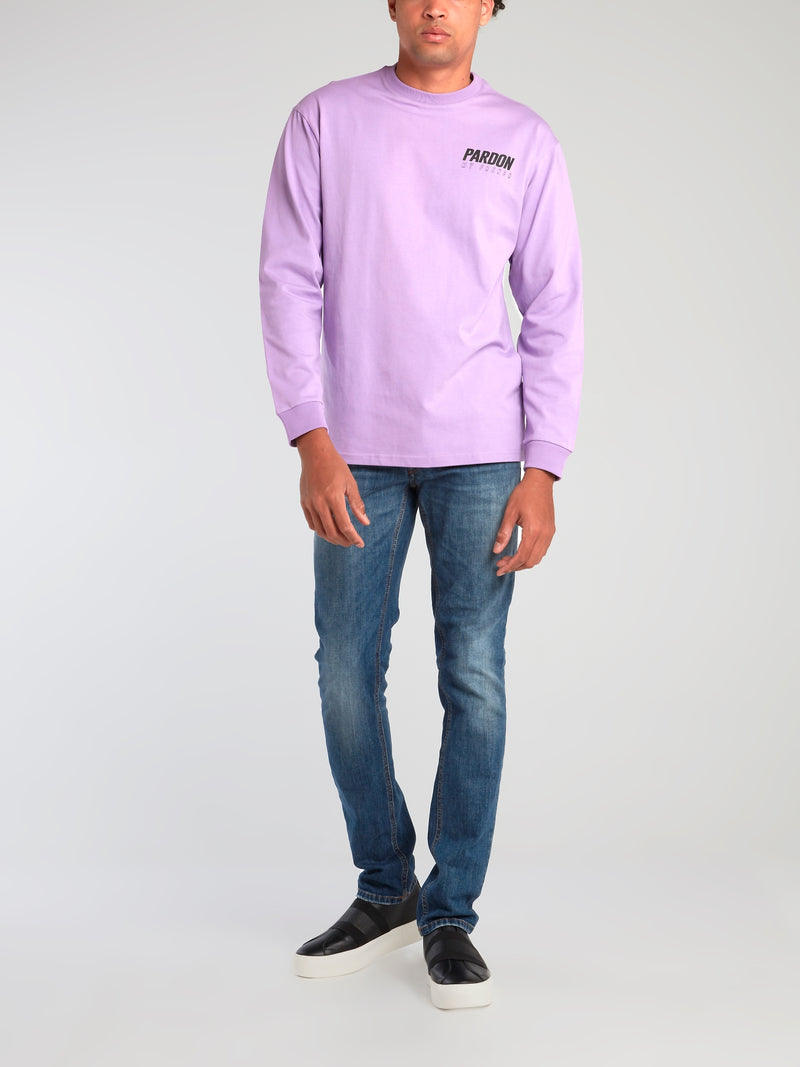 Purple Logo Crewneck Sweatshirt