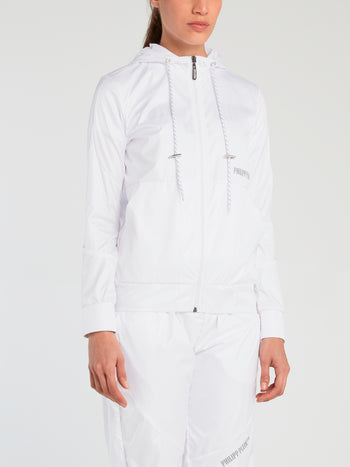 White Nylon Track Jacket