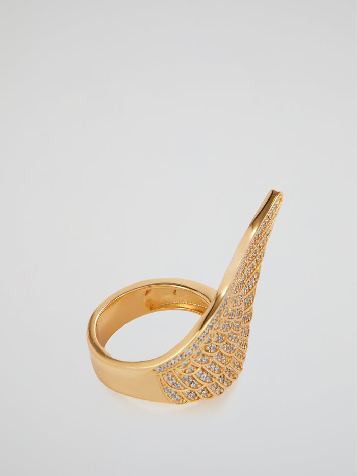Gold Angel Wing Ring
