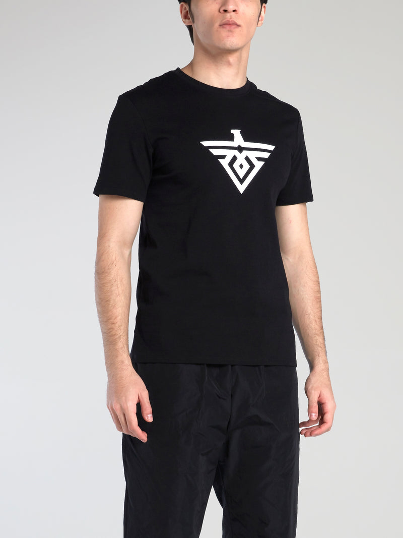Black Monogram Cotton T-Shirt
