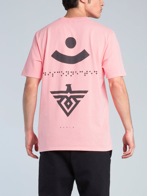 Pink Braille Print T-Shirt