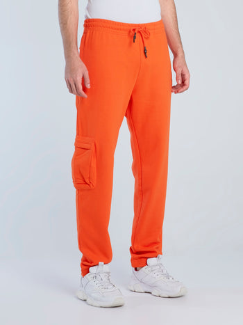 Orange Cargo Core Pants
