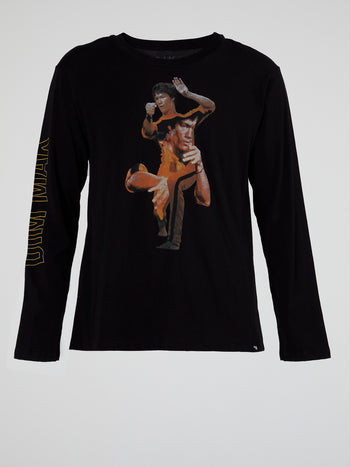 Black Death Game Collage Long Sleeve T-Shirt