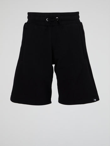 Black Drawstring Athletic Shorts