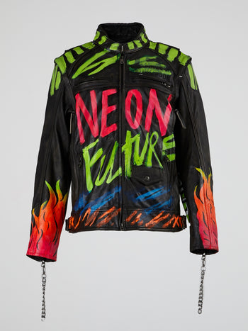 Neon Future Leather Jacket
