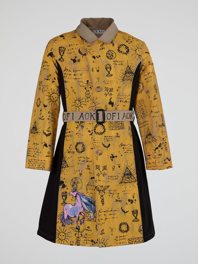 Mythical Creatures Trench Coat
