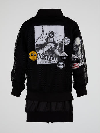 Dragon Ball 2 Patched Bomber Jacket