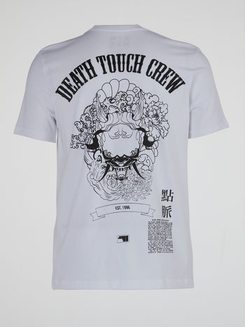 White Death Touch Crewneck T-Shirt
