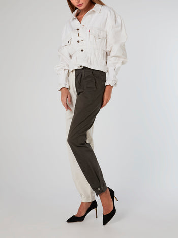Two-Tone Chino Trousers