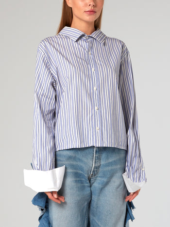 String Back Striped Shirt
