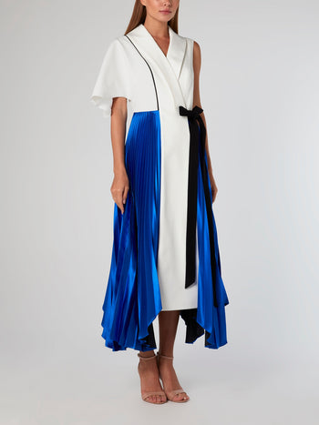 Glass Pleated Signature Midi Dress