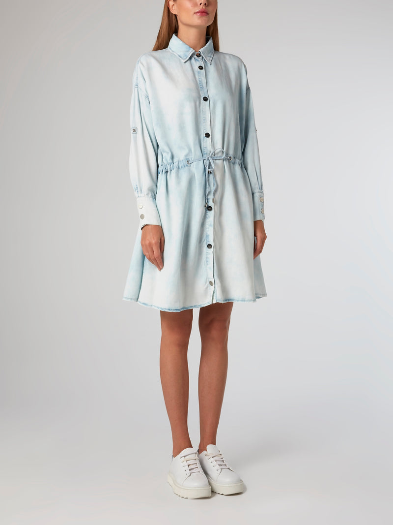Acid Wash Tencel Shirt Dress