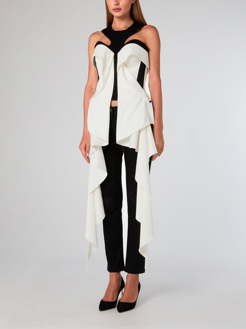White Melted Columns Corset
