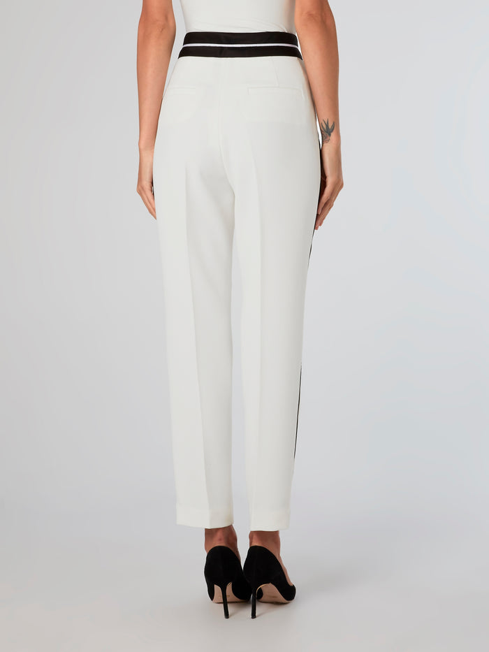 Contrast Detailed Tuxedo Pants