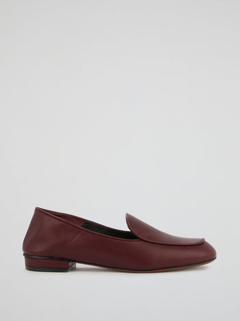 Burgundy Slip-On Loafers