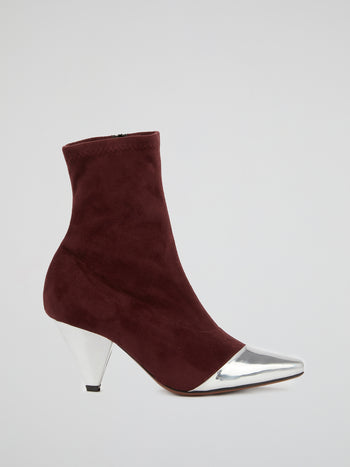 Metallic Toe Suede Boots