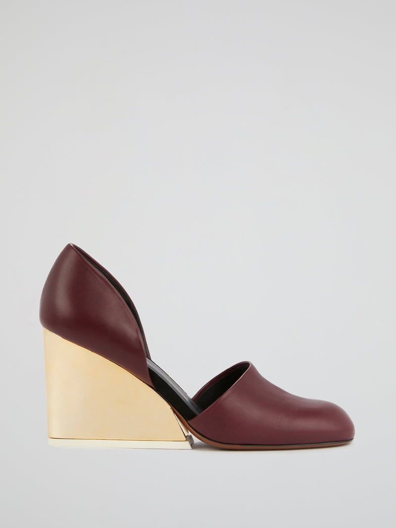 Burgundy Leather Pumps