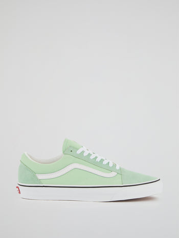 UA Old Skool Green Suede Sneakers