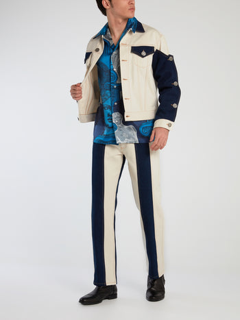 Rodeo Ivory Panelled Denim Jacket