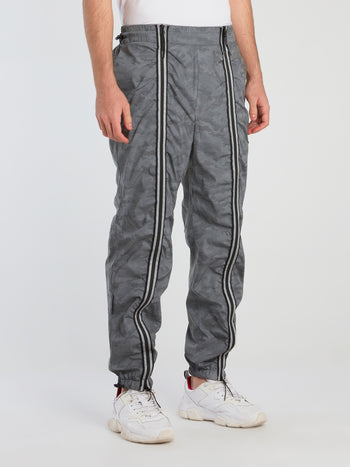 Grey Camo Zip Up Trousers