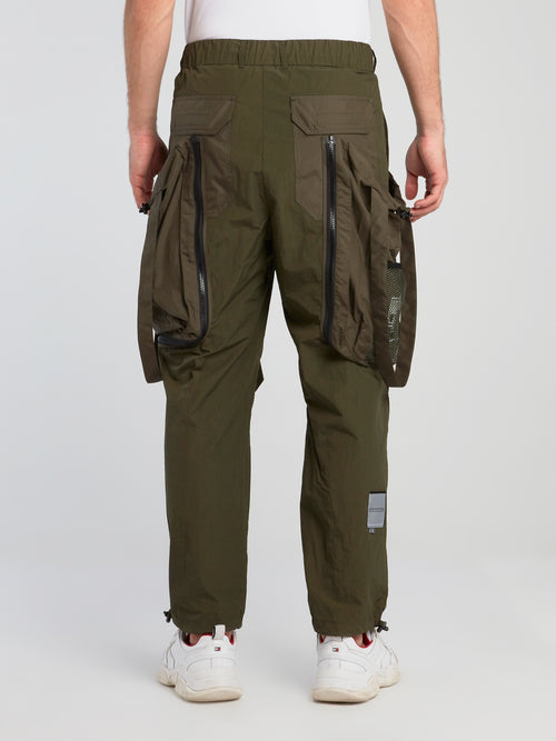Khaki Oversized Cargo Pants