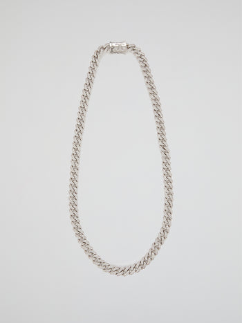 "Flooded Diamond Cuban Link Chain (22"" 10mm)"