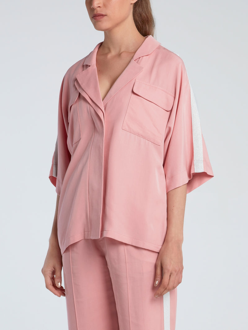 Pink Oversized Tencel Blouse