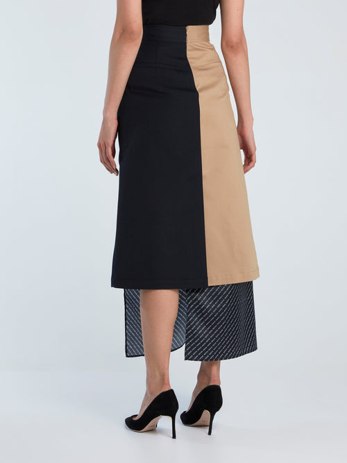Mulit-Layer Trench Long Skirt